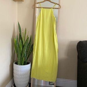 Topshop High Neck Midi Dress